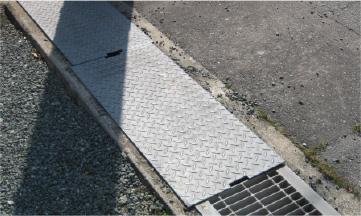 側溝・用水路の「溝ぶた」の設置